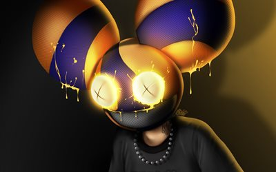 4k, Deadmau5, fan art, Joel Thomas Zimmerman, canadian DJs, music stars, 3D art, Deadmau5 3D, creative
