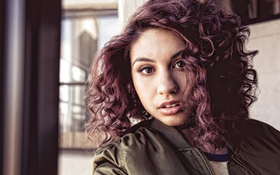 Alessia Caracciolo, Canadian singer, photoshoot, green jacket, portrait, Canadian star, popular singers, Alessia Cara