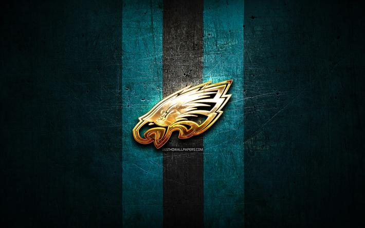 Philadelphia Eagles, golden logo, NFL