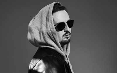 Robin Schulz, portrait, photoshoot, monochrome, german dj, popular dj