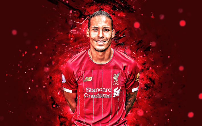 Download Wallpapers 4k, Virgil Van Dijk, Season 2019-2020