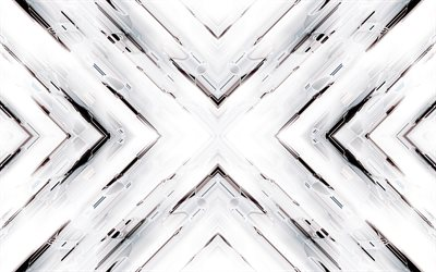 white arrows, 4k, material design, abstract arrows, creative, geometric shapes, arrows, pink material design, strips, geometry, white backgrounds