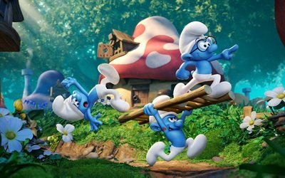 Smurfs 3, The Lost Village, 2017, Smurfs 3 characters, new cartoons