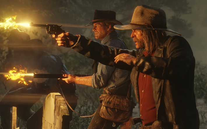 Download Wallpapers Red Dead Redemption 2 4k Poster Promo