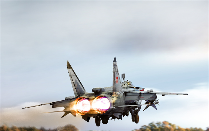 Download Wallpapers Mig 31 Fighter Mikoyan Mig 31 Foxhound