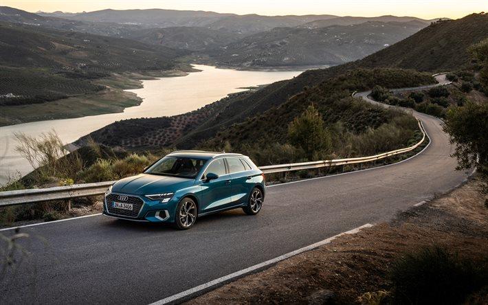 Download Wallpapers Audi A3 Sportback  4k  Road  2020 Cars  Wagons  2020 Audi A3 Sportback