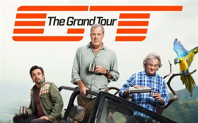 The Grand Tour, Jeremy Clarkson, Richard Hammond, James May, british car tv program, poster, promo