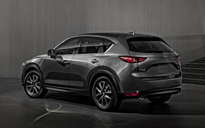 Mazda CX-5, 2020, rear view, exterior, gray crossover, new gray CX-5, japanese cars, Mazda
