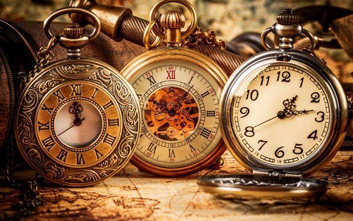 Herunterladen Hintergrundbild Alte Uhr Alte Taschenuhr