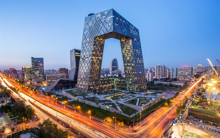 Download Wallpapers Cctv Building Beijing 4k Modern Architecture