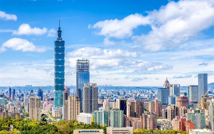 Download Wallpapers Taipei 101 4k Cityscapes Taiwan Asia Taipei