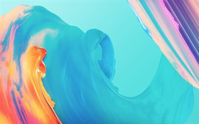 colorful waves, 4k, art, colorful paints, abstract waves, curves, creative