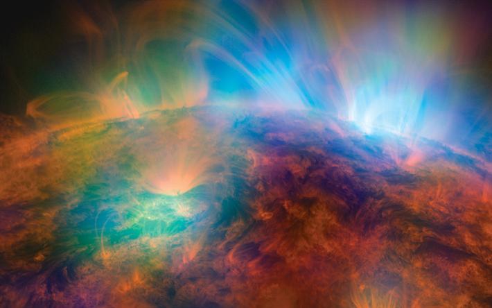 Download Wallpapers Sun 4k Galaxy Nebula Universe