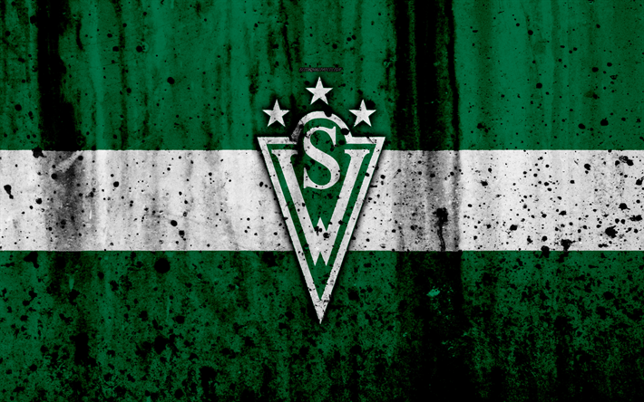 Download wallpapers 4k, FC Santiago Wanderers, art, grunge ...