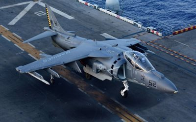 McDonnell Douglas AV-8B, Harrier II, attack aircraft, vertical take-off, US Air Force, aircraft carrier