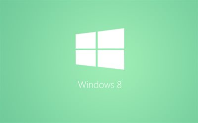 Windows 10, el logotipo en blanco, creativo, mínimo, un fondo verde, Windows 10 logotipo de Microsoft