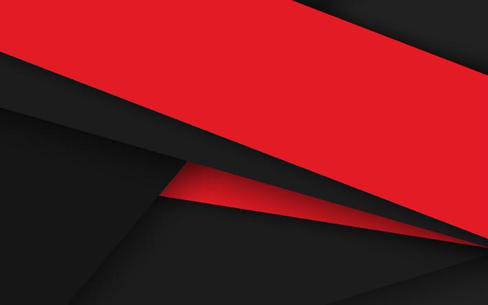 Scarica Sfondi Materiale Design Arte Rosso E Nero Righe Sfondo