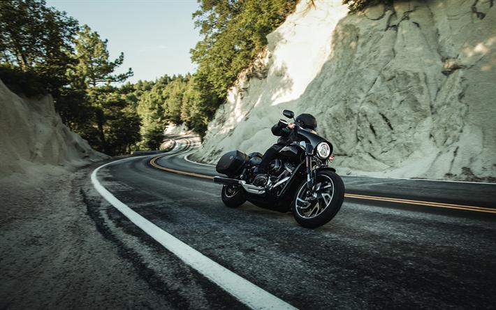 Download Wallpapers Harley-Davidson Sport Glide, 4k, 2018
