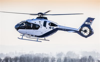 Airbus Helicopters H135, Helionix, winter, Eurocopter EC135, Airbus