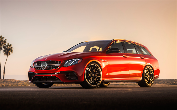 Famous Download wallpapers Mercedes-AMG E63 S Wagon, 2018, 4k, red  CP26