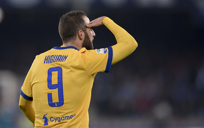 Download Wallpapers 4k Gonzalo Higuain Match Juve Footballers