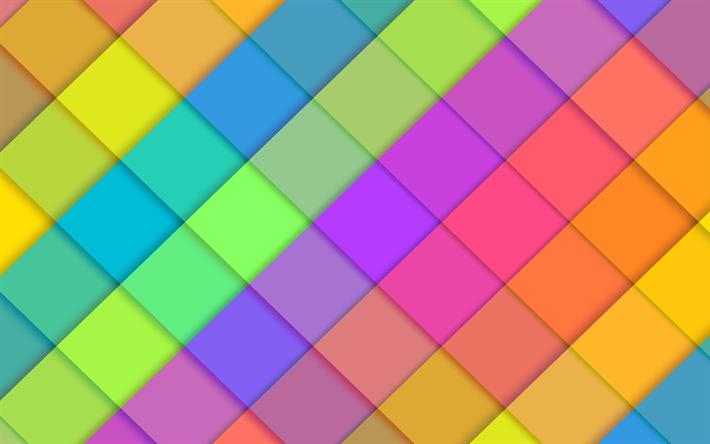 Descargar Fondos De Pantalla Rombos 4k Material De Dise 241 O De Arte De L 237 Neas De Colores De
