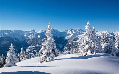 Herunterladen hintergrundbild berg landschaft winter for Paesaggi invernali desktop