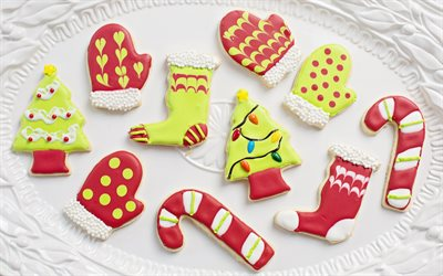 Christmas cookies, Happy New Year, cookies, holiday baked goods, Merry Christmas