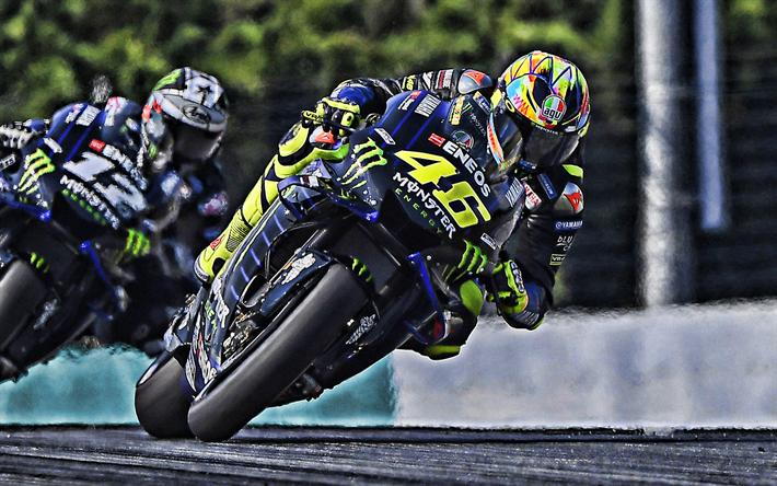 Download wallpapers Valentino Rossi, 2019, MotoGP, Yamaha ...