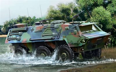 TPz Fuchs, German Army, armoured personnel carrier, armored vehicle, Transportpanzer, Germany