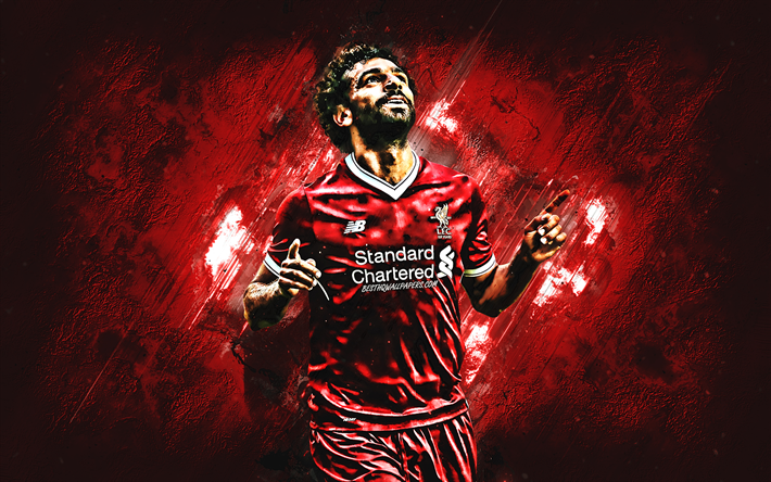 Download Wallpapers Mohamed Salah, Liverpool FC, Egyptian