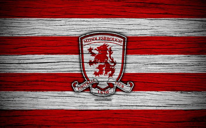 Download Wallpapers Middlesbrough FC, 4k, EFL Championship