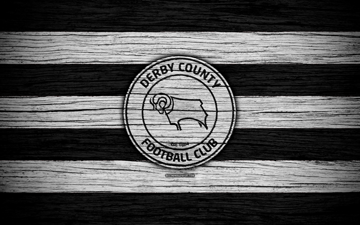 Download Wallpapers Derby County FC, 4k, EFL Championship