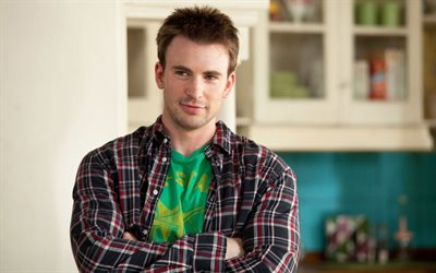 Chris Evans, American actor, portrait, photoshoot, young stars