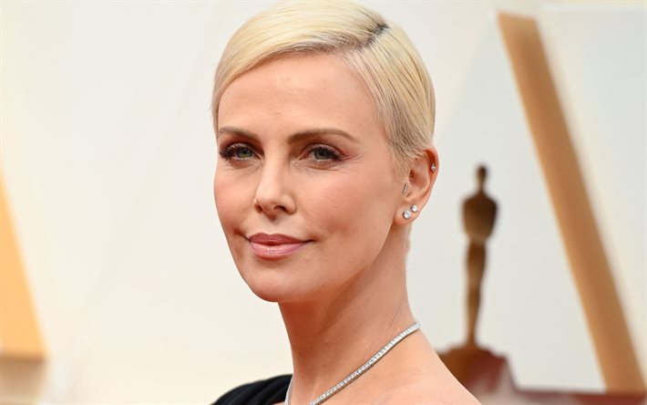 Charlize Theron, portrait, american actress, photoshoot, makeup, beautiful woman, american fashion model