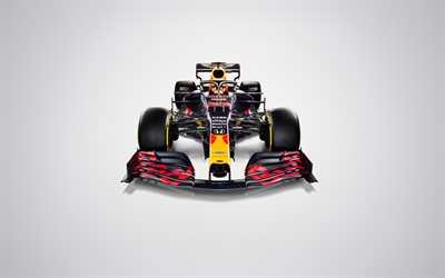 Red Bull RB16, 4k, vue de face, 2020 voitures de F1, studio, Formule 1, Aston Martin de Red Bull Racing, F1 2020, les nouvelles RB16, F1, Red Bull Racing à 2020, les voitures de F1, Red Bull Racing-Honda