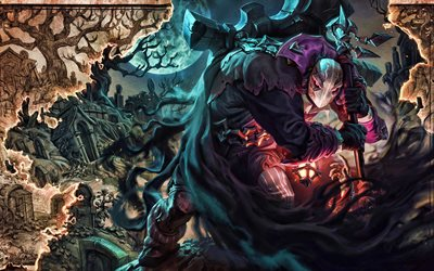 Undertaker Yorick, MOBA, League of Legends, 2020 games, warrior, artwork, Undertaker Yorick League of Legends
