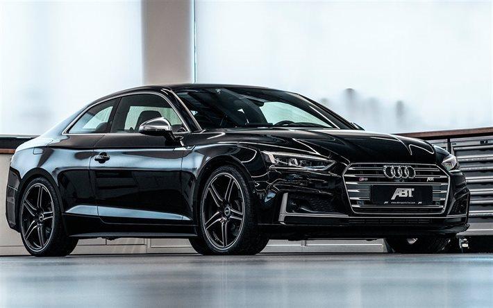 скачать обои Abt Tuning Audi S5 2018 Cars Gernan Cars Black S5