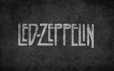 Led Zeppelin, british rock band, logo, grunge