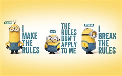 Minions, characters, Bob, Kevin, Stewart, Despicable Me