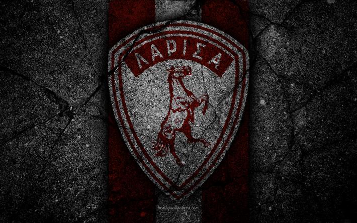 Download wallpapers 4k, AEL Larissa FC, logo, Greece Super ...