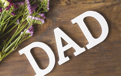 Fathers Day, Dads Day, June 17, 2018, USA, congratulation, postcard, wooden background