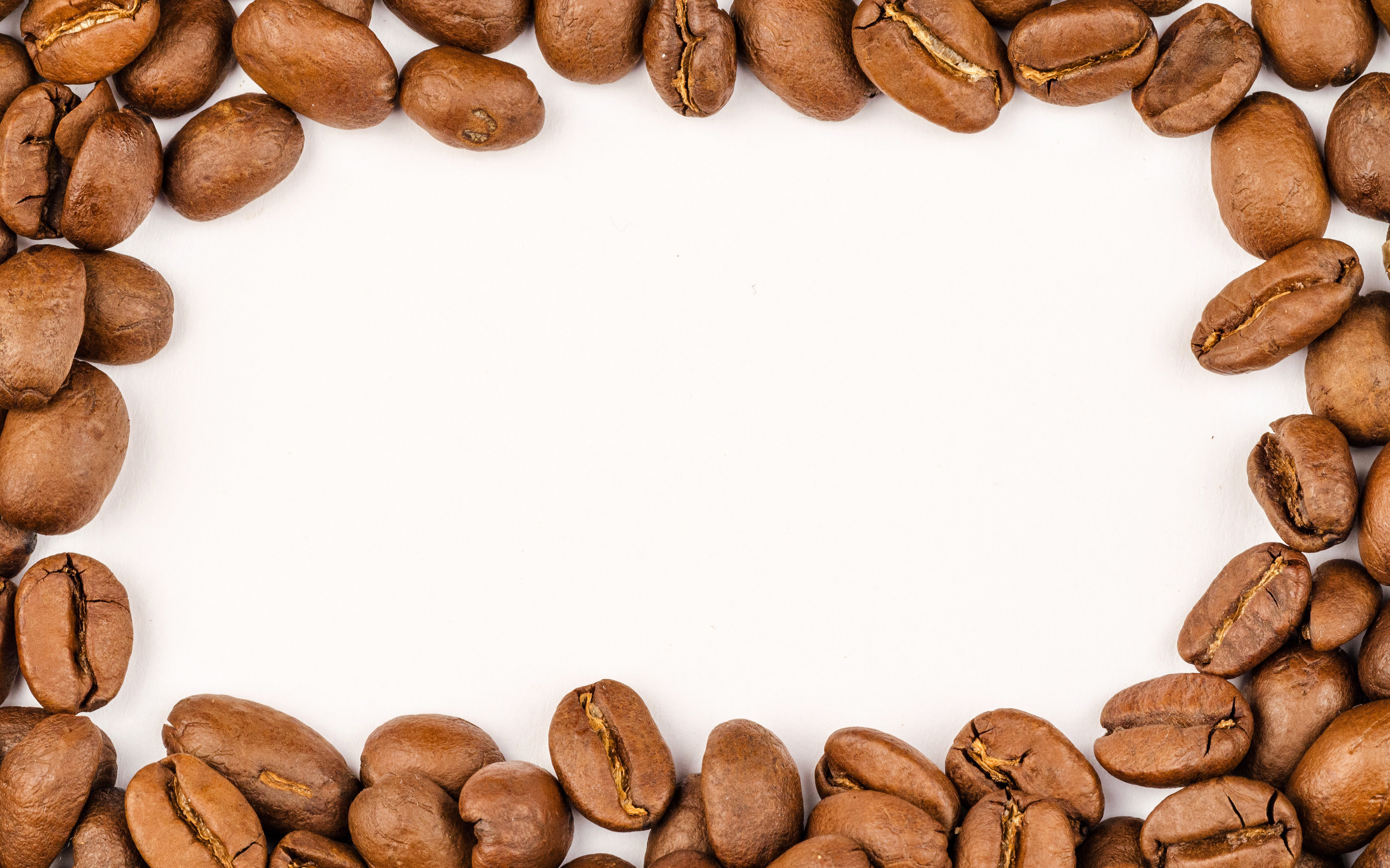 coffee beans frame, 4k, white background, artwork, creative, coffee beans, coffee