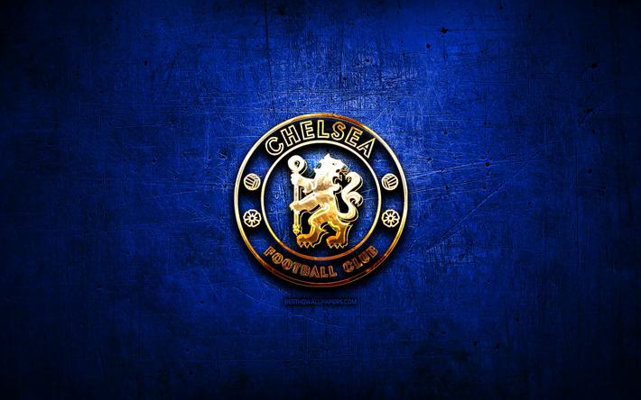 Download Wallpapers Chelsea Fc Golden Logo Premier League