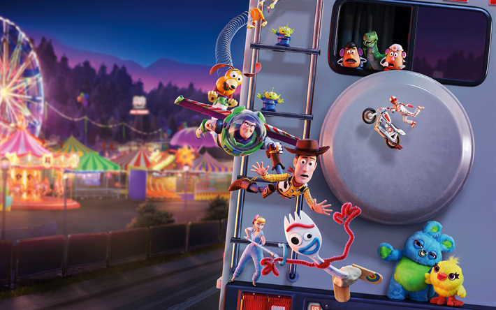 Download Wallpapers Toy Story 4 2019 Poster All
