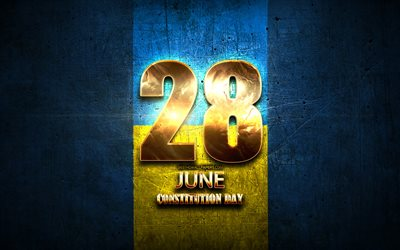 Constitution Day, June 28, golden signs, ukrainian national holidays, Constitution Day of Ukraine, Ukraine Public Holidays, Ukraine, Europe