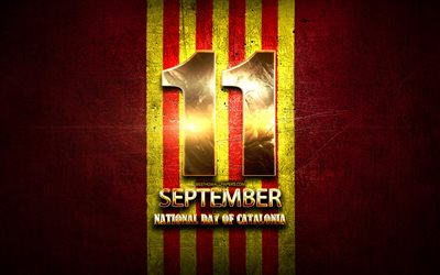 National Day of Catalonia, September 11, golden signs, catalonia national holidays, Catalonia Public Holidays, Spain, Europe