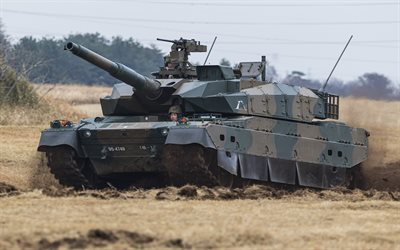 Type 10, JSDF, Japanese Main battle tank, Japanese Ground Self Defense Force, Japan, modern tanks, armored vehicles