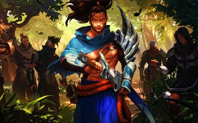 Yasuo, batalha, MOBA, guerreiros, League of Legends, Jogos de 2020, Lendas de Runeterra, obras de arte, Yasuo League of Legends