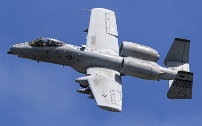 Fairchild-Republic A-10 Thunderbolt II, American attack aircraft, American military aircraft, US Air Force, A-10, military aircraft